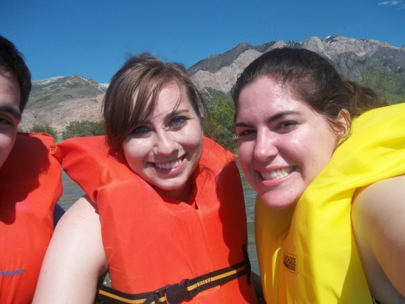 Possibly the only canoe picture where I don't look in pain from trying to smile while looking at the sun, haha.