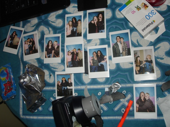 I wanted to make sure everyone could bring some photobooth fun home with them.Some of the cutest pictures were the ones in Polaroid form.