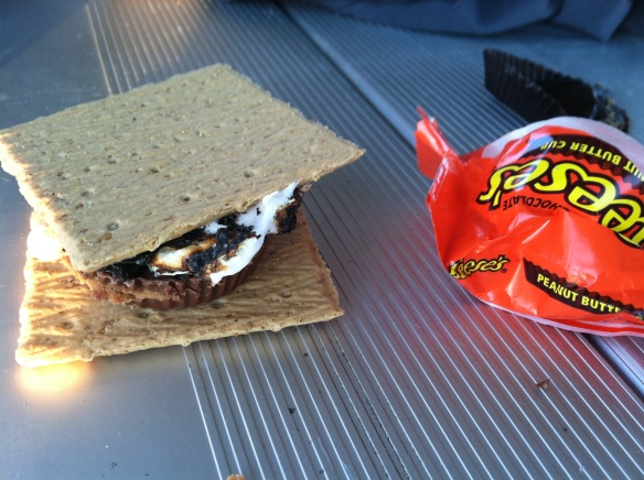 We made s'mores with a variety of fillings. One of my favs was the Reese's cup s'more! So good!