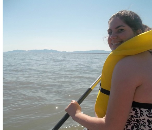 I took the lead and then was quickly demoted when it immediately became clear I was no good at navigating the canoe, haha. I was pretty much happy to go in whatever direction the bay wanted to propel us.