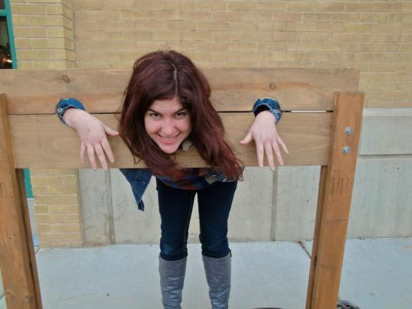 Me in the stocks at the Dickens festival. They also had lots of vendor booths and fun snacks. Everyone was dressed up and using British accents.