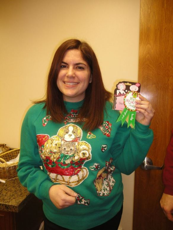 """This particular gem managed to snag me the """"tacky"""" prize at the company Christmas luncheon."""