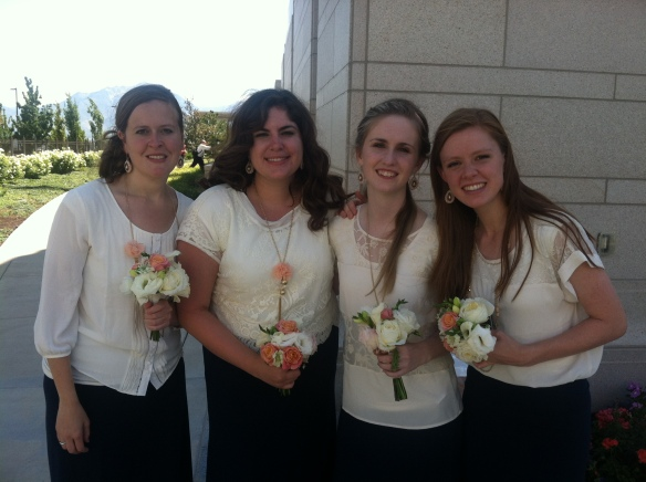 Me with some of the other bridesmaids :)